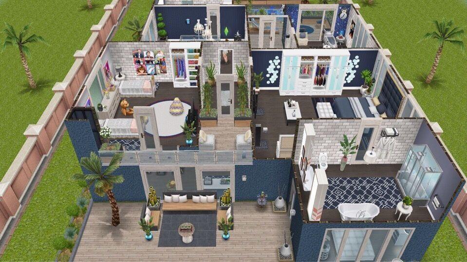 Схемы домов в симс фриплей 007