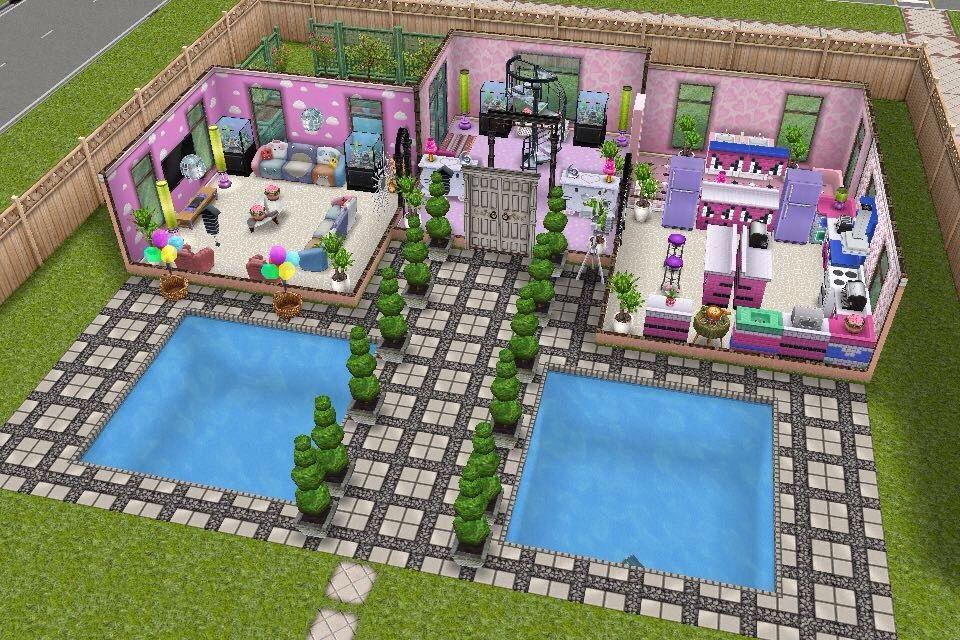 Схемы домов в симс фриплей 011