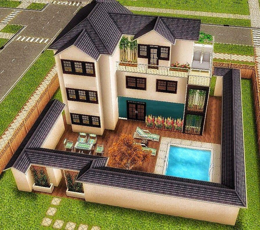 Схемы домов в симс фриплей 019