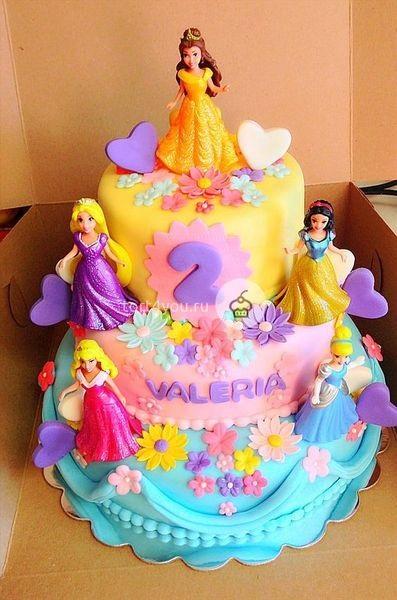 Тортики с принцессами фото 001