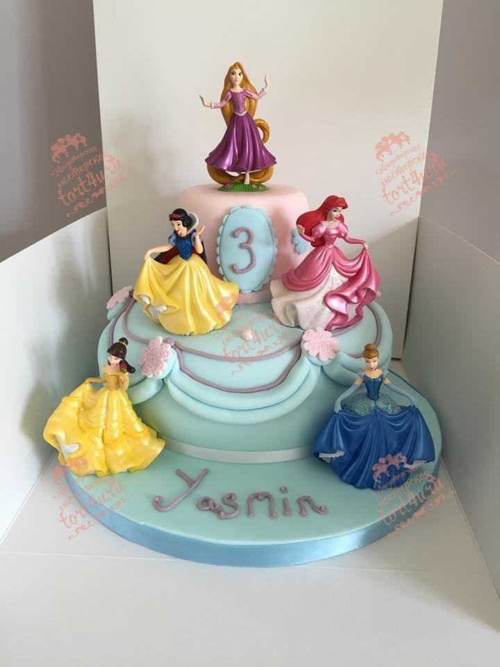 Тортики с принцессами фото 003