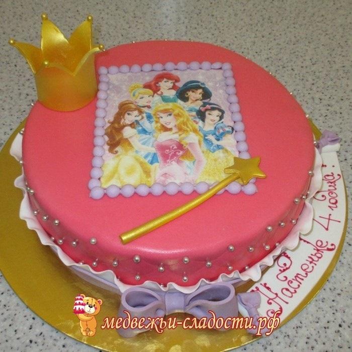 Тортики с принцессами фото 005