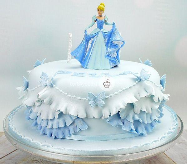 Тортики с принцессами фото 006