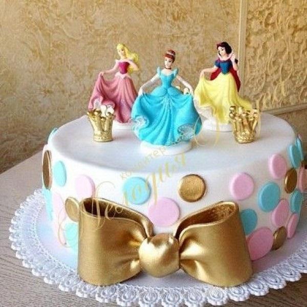 Тортики с принцессами фото 009
