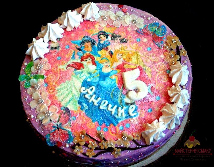 Тортики с принцессами фото 016