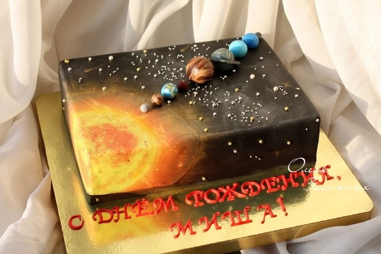 Торт в виде планеты 001