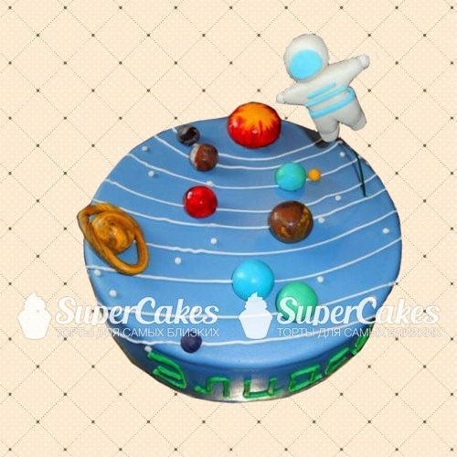 Торт в виде планеты 005