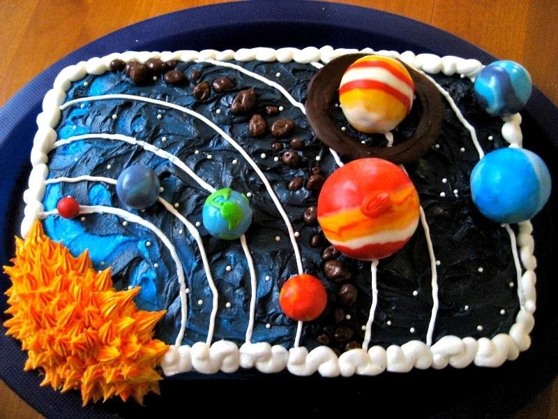 Торт в виде планеты 007