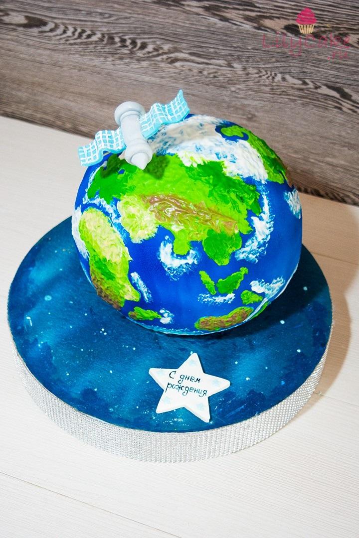 Торт в виде планеты 010