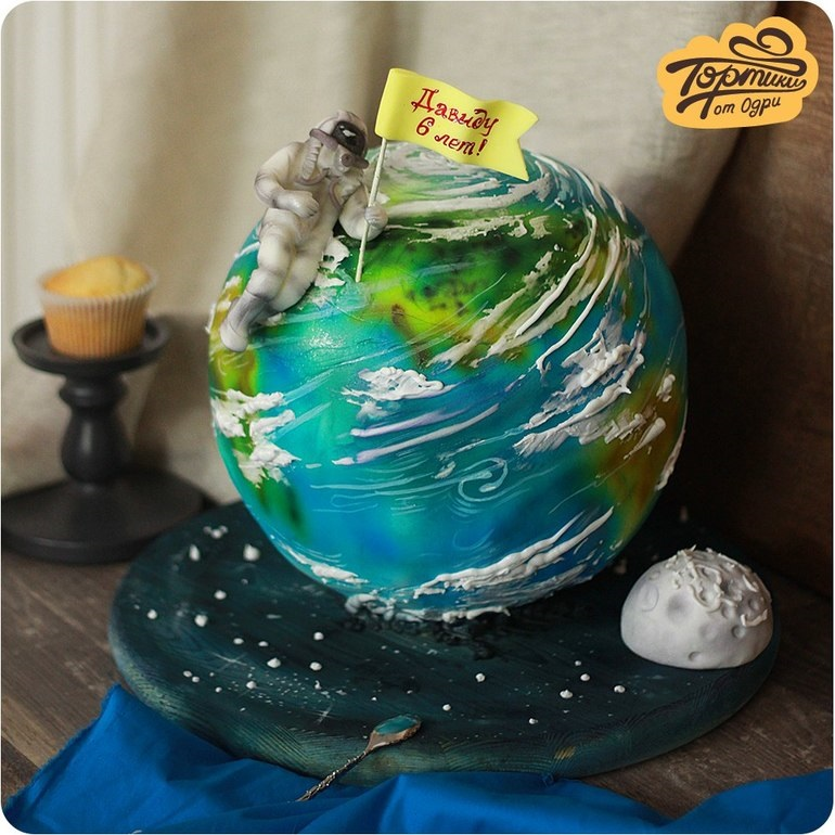 Торт в виде планеты 011