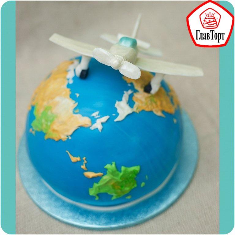 Торт в виде планеты 012