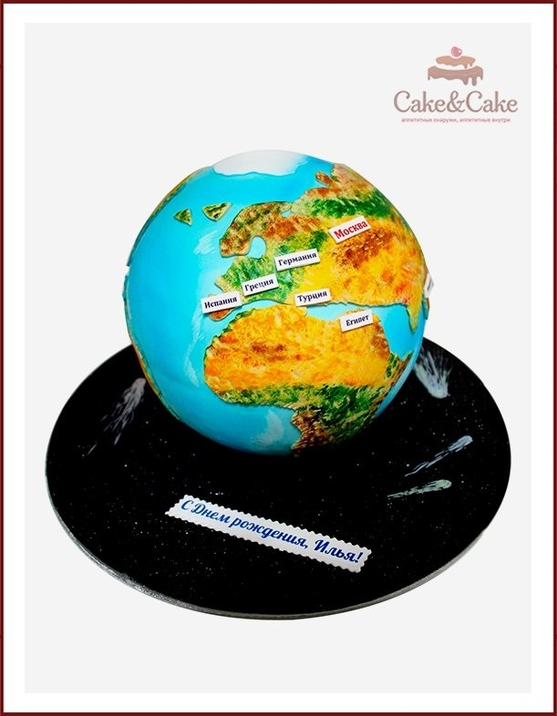 Торт в виде планеты 014