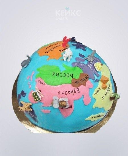 Торт в виде планеты 017