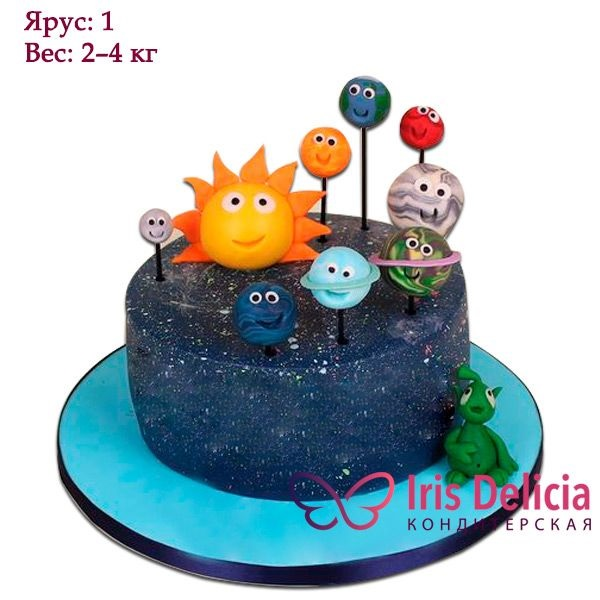 Торт в виде планеты 018