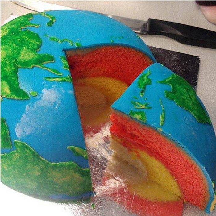 Торт в виде планеты 019