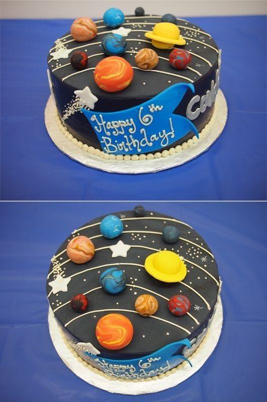 Торт в виде планеты 020
