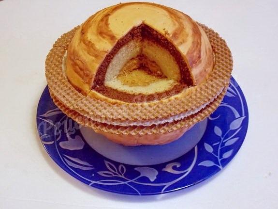 Торт в виде планеты 022