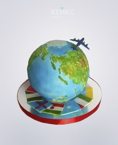 Торт в виде планеты 023