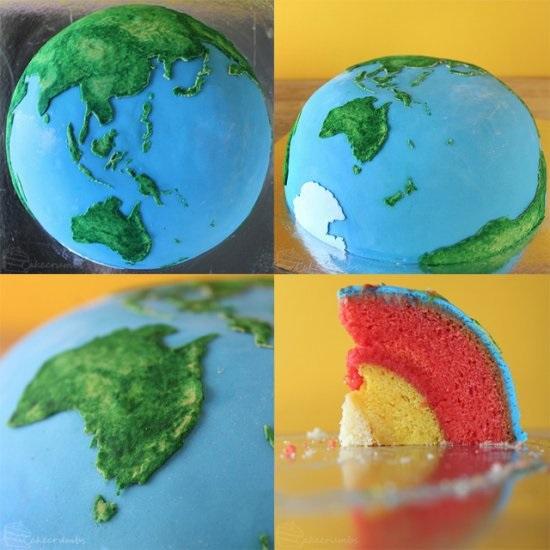 Торт в виде планеты 024