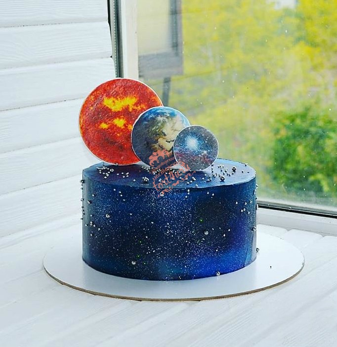 Торт в виде планеты 027