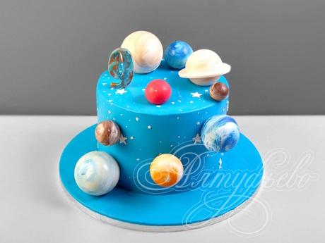 Торт в виде планеты 028