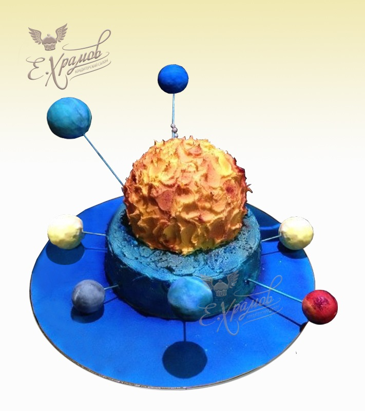 Торт в виде планеты 029