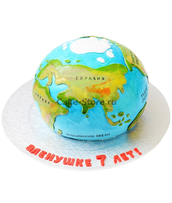 Торт в виде планеты 030