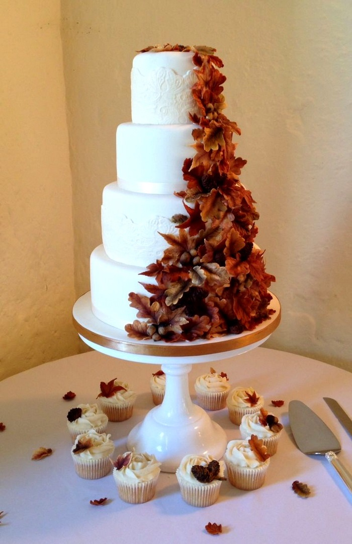 Торт в стиле осень 003