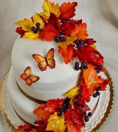 Торт в стиле осень 007