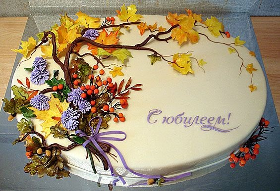 Торт в стиле осень 012