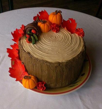 Торт в стиле осень 013