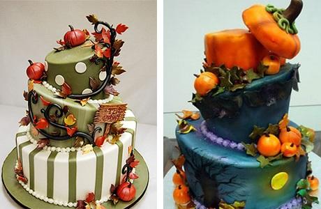 Торт в стиле осень 016