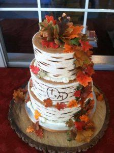 Торт в стиле осень 028