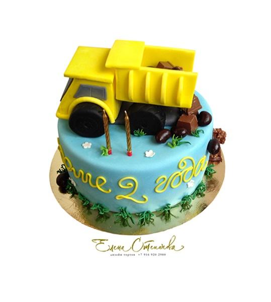 Торт грузовик с конфетами 003