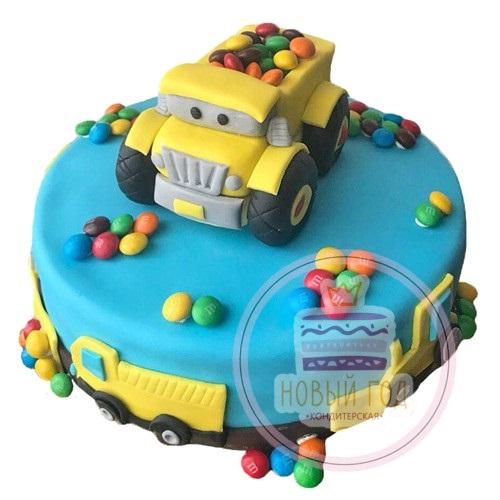 Торт грузовик с конфетами 005