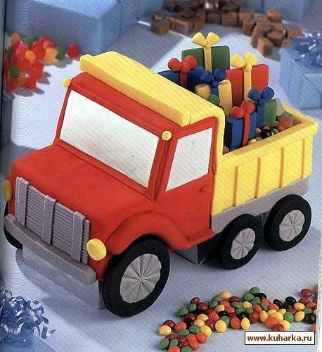 Торт грузовик с конфетами 016