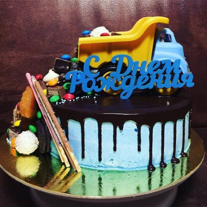 Торт грузовик с конфетами 017