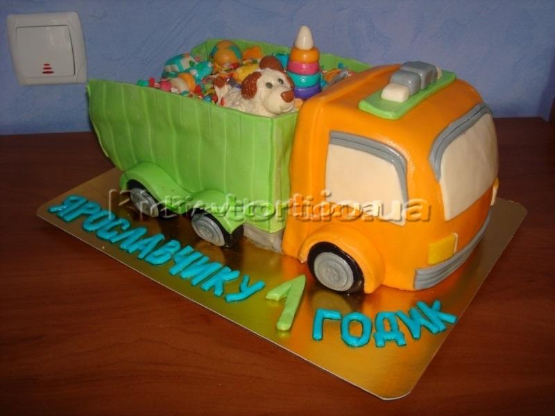 Торт грузовик с конфетами 020