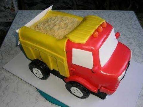 Торт грузовик с конфетами 023