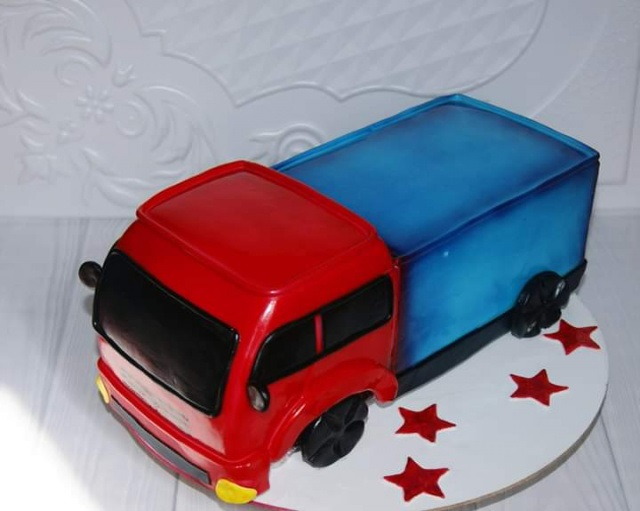 Торт грузовик с конфетами 027