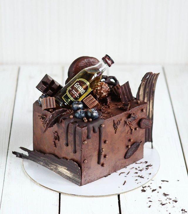 Торт квадратный для мужчины 002