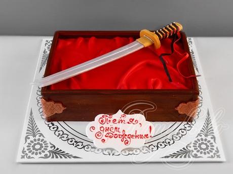 Торт квадратный для мужчины 003