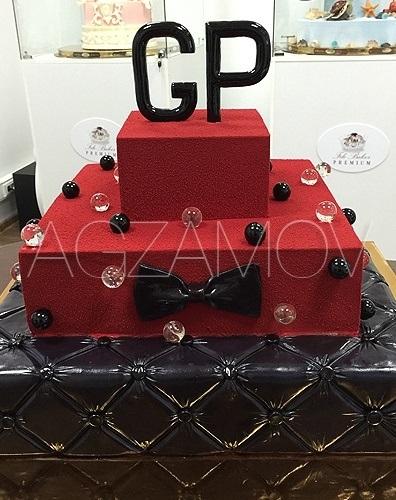 Торт квадратный для мужчины 004
