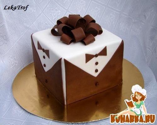 Торт квадратный для мужчины 005