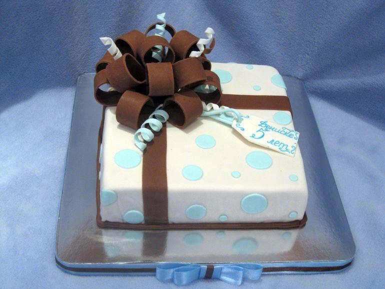 Торт квадратный для мужчины 006
