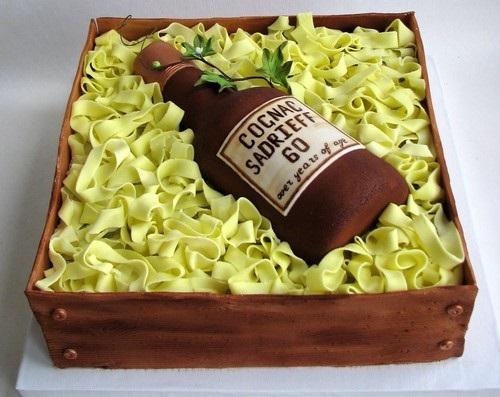 Торт квадратный для мужчины 008