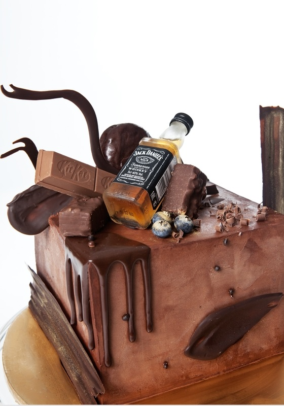 Торт квадратный для мужчины 009