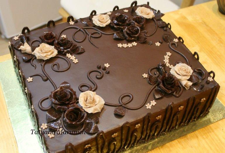 Торт квадратный для мужчины 012