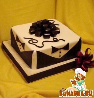 Торт квадратный для мужчины 017