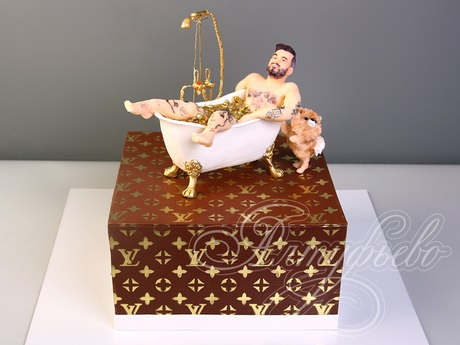 Торт квадратный для мужчины 018